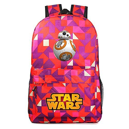 Mochila Star BB-8 Wars, Mochila Casual para Adolescentes, Mochila Grande Ligera Escuela, Mochila de Senderismo de Viaje Medio color-17