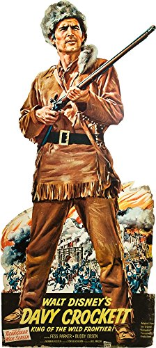 Davy Crockett King Of The Wild Frontier Fess Parker On Standee Promotional Poster 1954. Photo Print (16 x 20)