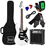 Best Choice Products 39in Full Size Beginner Electric Guitar Starter Kit w/Case, Strap, 10W Amp, Strings,...