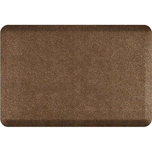 "WellnessMats Granite 3/4"" Polyurethane Anti Fatigue Floor Mat - Cushioned Comfort & Support for Home, Kitchen, Garage, Office Standing Desk - Non-Slip, Non-Toxic, Durable - 36"" x 24"" - Granite Copper"