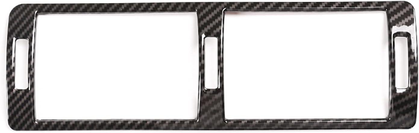 Coche Interior Accesorios Para BMW 5 Series E39 1996-03 Consola Central Coche Aire Acondicionado Ventilación Marco Cubierta Trim ABS Plástico Fibra Carbono Accesorio Interior Aire Acondicionado Salida