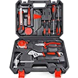 Arrinew General Household Hand Tools Kit 19 PCS Home Repair Tools Set Made of High-Grade Steel Alloy Home Hand Tool Set Kit DIY Office Tool kit Set with Portable Storage Case