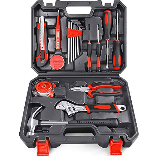 Arrinew 19pcs Household Tools Kit Home Repair Tools Set for Homeowner with Portable Storage Case for Apartment Garage and Dorm Highgrade Steel Perfect for Home Maintenance