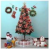N/Z Inicio Equipo DYB Árbol de Navidad Decoración navideña Árboles Árbol de Navidad Artificial Premium con bisagras con Patas de Metal sólido Adorno de Navidad de fácil Montaje (tamaño: 2,4 m)