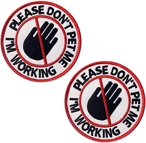 Rettungshund Stress & Angst Response Weste/Geschirre Taktische Militärmorale Badge Emblem bestickt Klettverschluss Aufnäher Applikation 7,6 cm Bubble 2 Stück g
