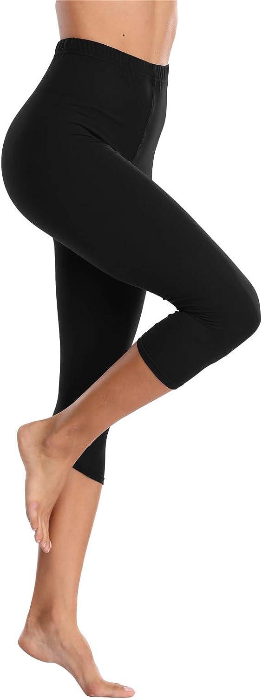 Polar Bunny Extra Soft Stretchy Capri Leggings for Women High Waisted Cropped Leggings