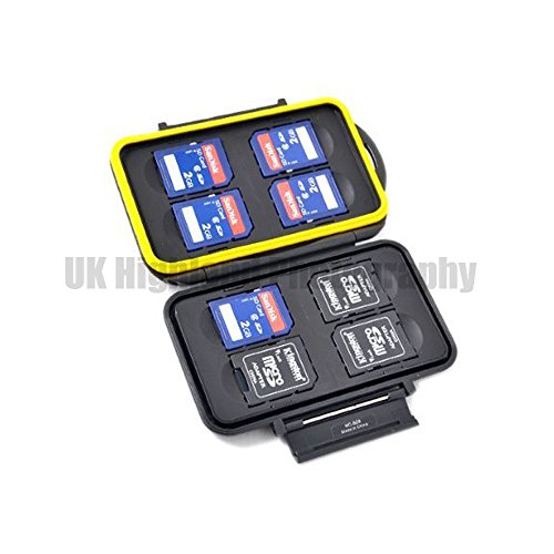 Kaavie - multi custodia contenitore impermeabile in plastica rigida per schede: Secure Digital / SDHC / SDXC x 8 - Multi Card Case Safe
