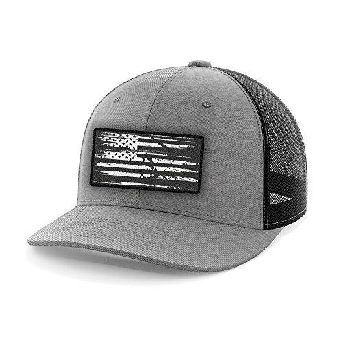 Tactical Pro Supply American Flag Flexfit Hat-USA Cap Heather Gray Flexfit (Small/Medium)