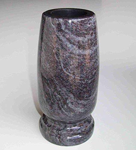 designgrab Classico-medium Grabvase aus Granit Orion Blue/Vizac Blue