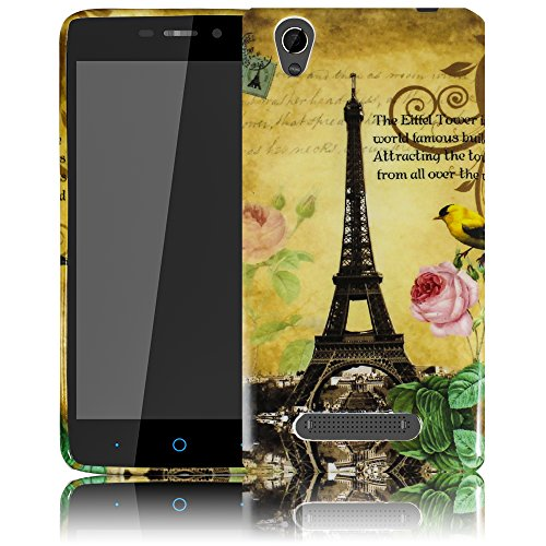 thematys Passend für ZTE Blade A452 - La Tour Paris Eiffelturm Silikon Schutz-Hülle weiche Tasche Cover Case Bumper Etui Flip Smartphone Handy Backcover Schutzhülle Handyhülle