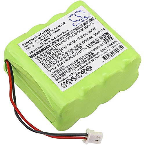 CS-VPX912BT Batería 2000mAh Compatible con [VISONIC] 0-100459, 0-100498, 0-100535, 0-100605, 0-5466-8, PowerMax 0-9912-L Control Panel, PowerMax+ Alarm Control Panels sustituye 0-9912-L, GP130AAM8YMX