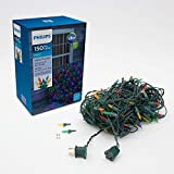 Philips 150 LED Faceted Mini Net Christmas Lights, Multicolored