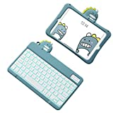 Coque pour Ipad 10.2 8th/7th Generation 2020 Keyboard - Housse de Protection en Silicone Antichoc...