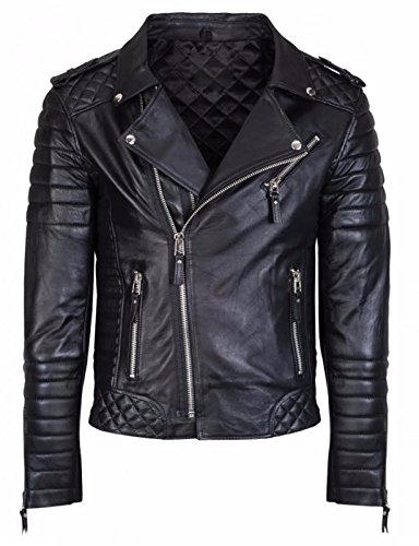 Leatherly Men's Leather Biker Jacket Black Real Leather Coat Designer-l