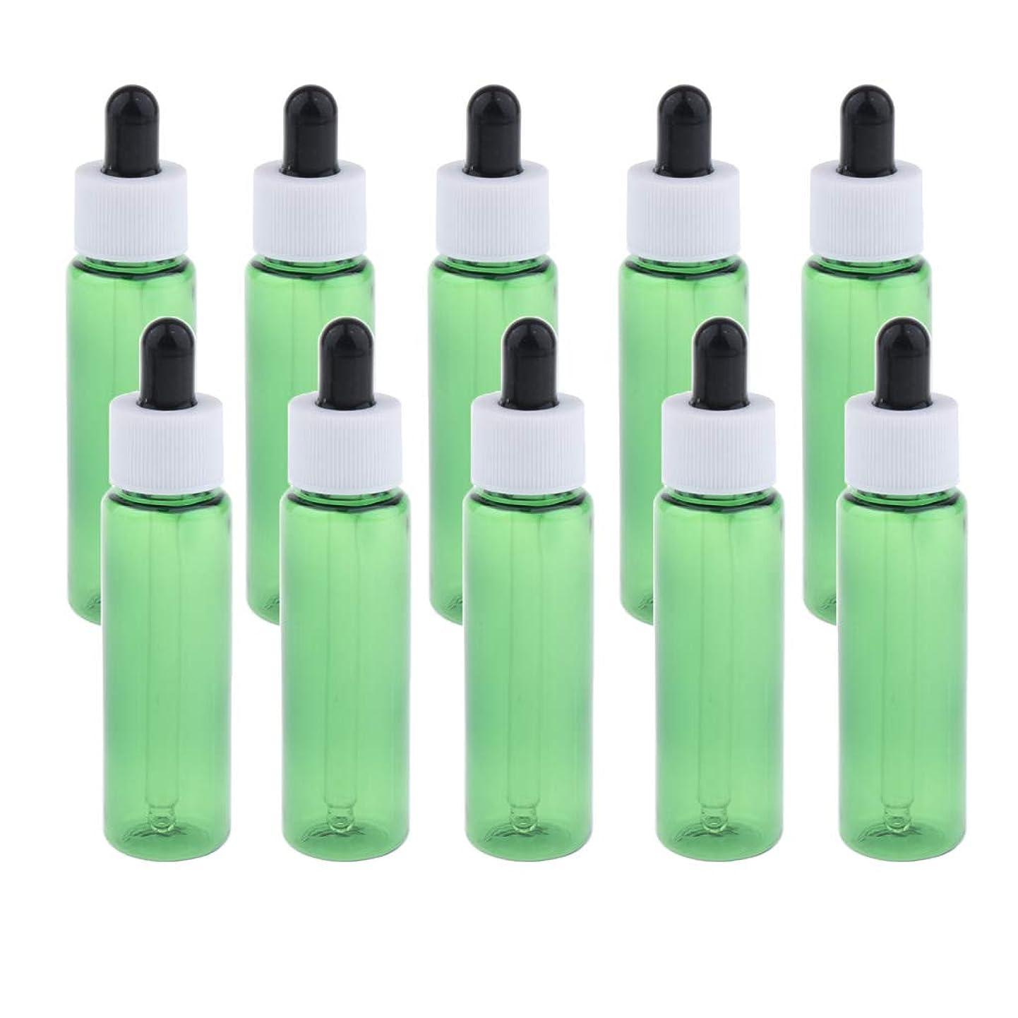 野な活気づけるファウルsharprepublic 30ml スポイトボトル 香水瓶 詰替え容器 エッセンシャルオイル 全4色 約10個セット - 緑