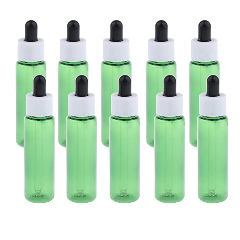 ペッカディロスチール数学sharprepublic 30ml スポイトボトル 香水瓶 詰替え容器 エッセンシャルオイル 全4色 約10個セット - 緑