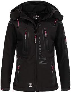 Geographical Norway - Chaqueta para mujer con capucha desmontable, Softshell, Tassion, para exteriores