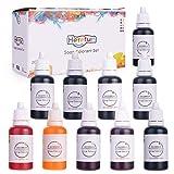 Herefun 10er×20ml Farbe Seifenfarbe Set Seifenherstellung Epoxidharz Farbe, Wasserlöslich...