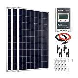 Giosolar Panel solar de 300 W de alta eficiencia policristalina panel solar PV con 30A LCD MPPT controlador de carga para autocaravana, caravana, camping, barco/yate
