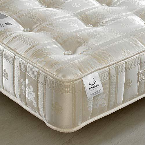 Orthopaedic 1000 Pocket Sprung, Happy Beds Majestic Medium Tension Mattress - 3ft Single (90 x 190 cm)