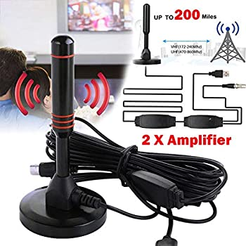 OUYAWEI Protable 1080P HD Antenna TV Digital 200 Mile Range Skywire TV Indoor 4K 16ft Coax Cable