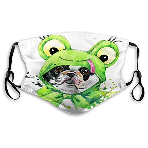 Adjustable Earloop Face Cover,One Size French Bulldog Dog French Bulldog Splash waterc Soft Cover