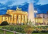 Amnogu Puzzles Puerta De Brandenburgo Berlín 1000 Piezas Colorido