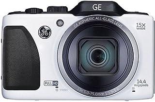 GE General Electric G100 Digitalkamera (14,4 Megapixel CMOS, 15 fach opt. Zoom, 7,6 cm (3,0 Zoll) Display, 28mm Weitwinkel, Optischer Bildstabilisator, High Speed Aufnahme, Full HD Video, Mehrfachbelichtung, HDR Pro, Nachführ Auto Fokus, 360° Panorama) weiß