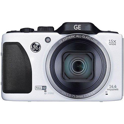 GE G100 051156 - Cámara de fotos digital compacta (14,4 Mp, zoom óptico 15x), color blanco
