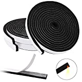 Aneco 3 Rolls Black BBQ Gasket Replacement BBQ Smoker Grill Tape 24.6 Feet Length Self Stick Gasket High Temp Grill Seal Tape for BBQ, Grill