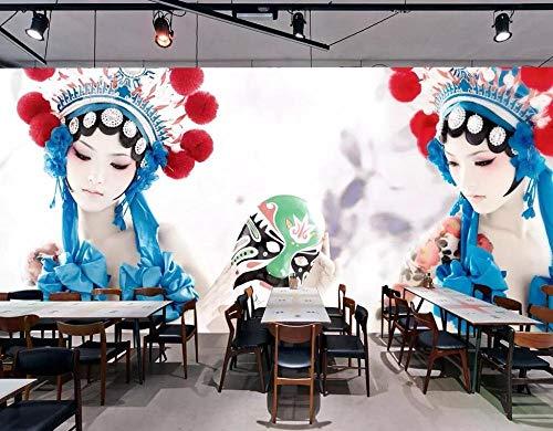 muurschildering muur Muralscustom behang op maat Wallpaper Chinese stijl drama release geest kostuum schoonheid hotel restaurant muurschildering achtergrond muur 3D behang 300 * 210cm