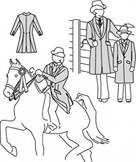 Field's Fabrics Suitability 5172 Womens & Childrens Saddle Suit Coat Equestrian Sewing Pattern