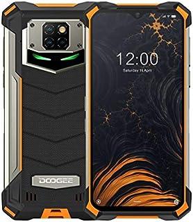 DOOGEE S88 Pro Rugged Phone, 6GB+128GB IP68/IP69K Waterproof Dust-proof Shockproof, 10000mAh Battery, Triple Back Cameras, 6.3 inch Android 10, 4G, NFC, OTG, SOS, Wireless Charging (Orange)