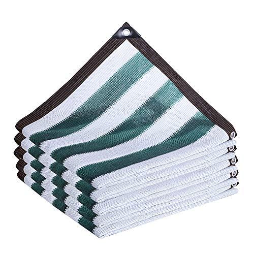 Filet d'ombrage Abat-jour en Tissu avec Oeillets, Protection Anti-UV À 95% pour la Clôture de Protection de la Terrasse du Balcon Extérieur - Bandes Vertes (Size : 4×6m)