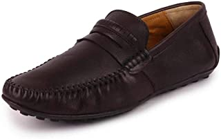 FAUSTO Men's Leather Driving Loafers