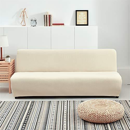 GOYOO Impermeable Funda de Clic clac Extensible,Cubre/Protector para sofá Cama sin reposabrazos Tejido Jacquard elástica,Beige