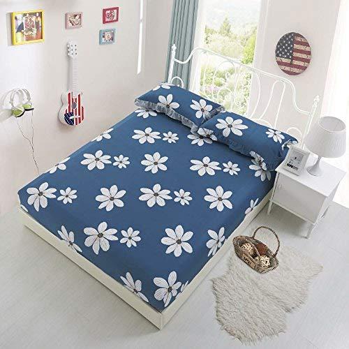 Hllhpc Kussensloop, bedlaken van katoen en elastiek, voor twee kinderen, maat volwassenen