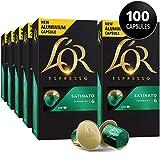 L'OR Espresso Pods, 100 Capsules Espresso Satinato, Single Cup Aluminum Coffee Capsules Compatible with Nespresso Original Machine