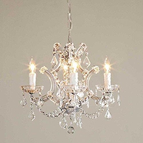 Saint Mossi Crystal Marie Theresa Chandelier Lighting 4 brazos/luces Cristales de vidrio transparente