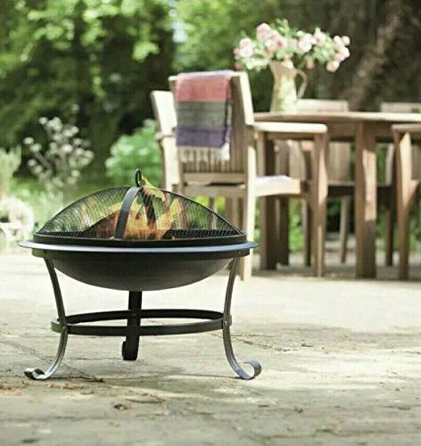 La Hacienda Serenity Steel Firepit Wood Burner Outdoor Patio Heater