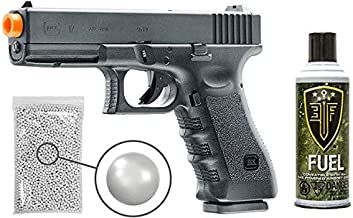 Glock Gen3 G17 Gas Blowback Airsoft Pistol with Included Elite Force Airsoft Green Gas Can and Wearable4U Pack of 1000 6mm 0.20g BBS Bundle