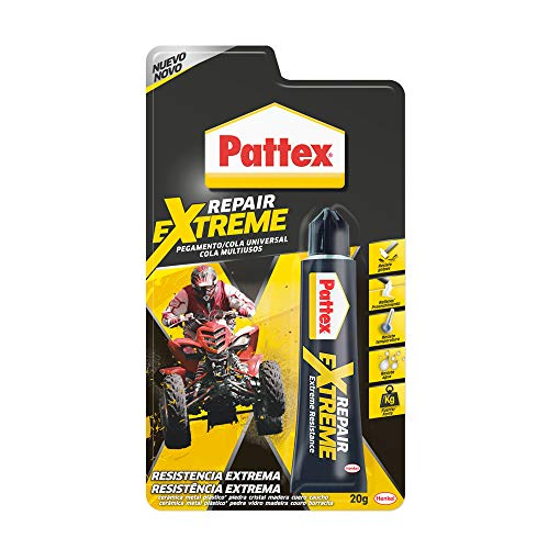 Pattex Repair Extreme, pegamento multiusos que no contrae, pegamento resistente a las vibraciones, pegamento extrafuerte para interiores y exteriores, 1 x 20 g, tubo