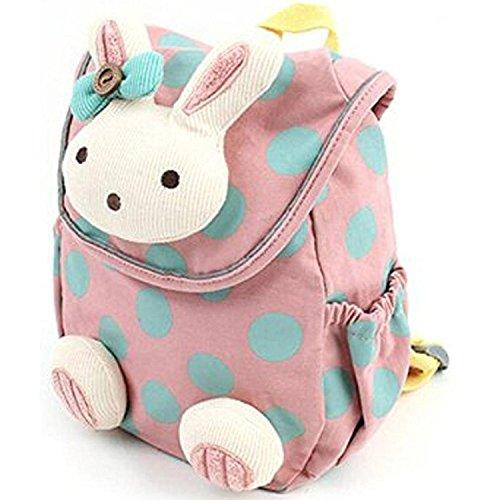 Oyedens 3d Cute Rabbit Baby zaino per bambini zaino per l' asilo Pink Taglia unica
