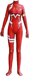 Zero Two Ichigo Darling in The Franxx Cosplay Costume | Bodysuit Suit Anime Zentai Suit | Lycra Fabric