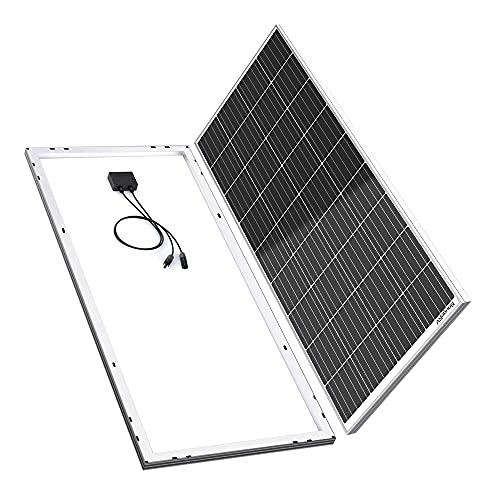 BougeRV 170 Watts Monocrystalline Solar Panel 12 Volts Mono Solar Cell Charger High Efficiency Module for RV Marine Boat Off Grid