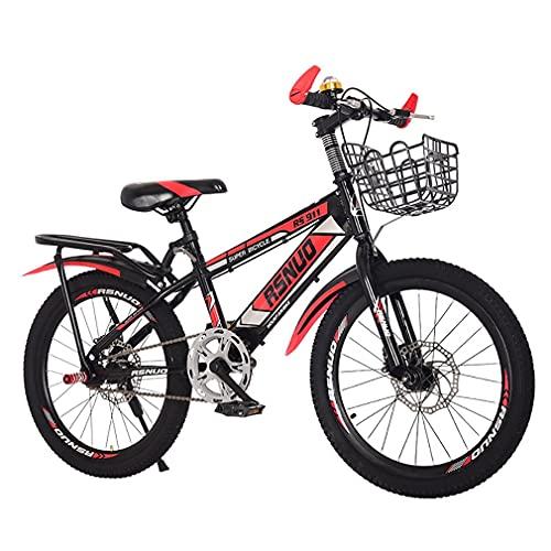 18/20/22 Pulgadas Bicis Infantiles Bicicletas NiñOs Bicicleta MontañA NiñOs Asiento Ajustable Freno Disco Bicicleta MontañA Velocidad Variable Adecuado NiñOs Y NiñAs Mayores 6 AñOs