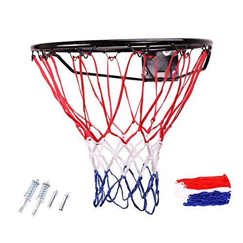 不能包含特殊字符,价格等信息Basketbalframe Basketbalnetbord voor buiten met net- en muurbevestigingen Draagbare hangmand 45 cm voor binnen- en buitensporten voor volwassenen,Solid basket