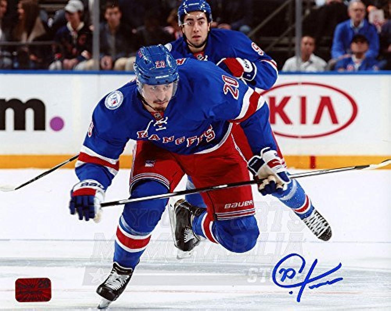 Chris Kreider New York Rangers Signed Autographed Skating Home Action 16x20 NPF