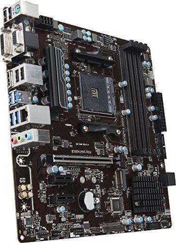 MSI Gaming AMD Ryzen B350 DDR4 VR Ready HDMI USB 3 CFX Micro-ATX Motherboard Louisiana