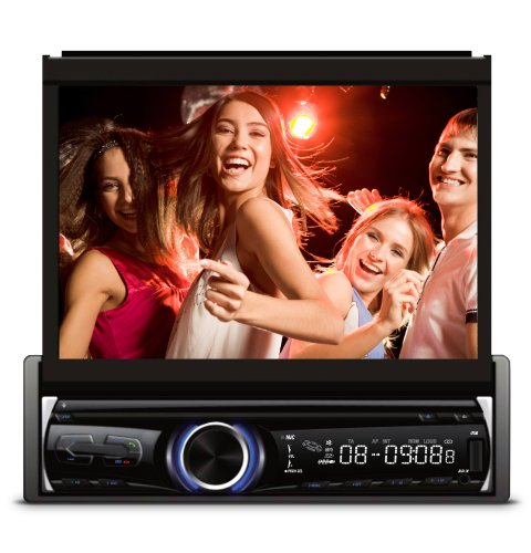 xo vision bluetooth audio receivers XO Vision X357 7-Inch in-Dash Touch Screen DVD Receiver with Bluetooth
